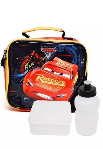 Lancheira Escolar Infantil Carros Dermiwil Vermelha 30097