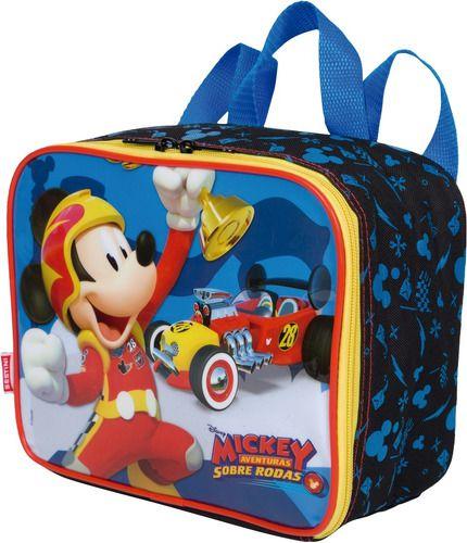 Lancheira Infantil Mickey Sestini Preta Imperdivel 065324-00