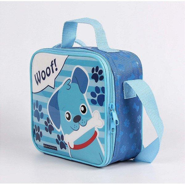 Lancheira Infantil Escolar Dmw Dog Azul 11428