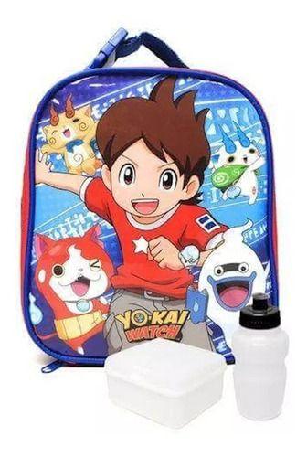 Lancheira Escolar Infantil Dmw Yo-kai Watch Preta 11260