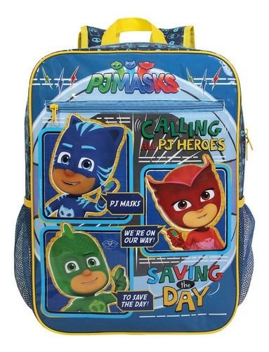 Mochila Escolar Infantil Dmw G Pj Masks Azul Sucesso 11563