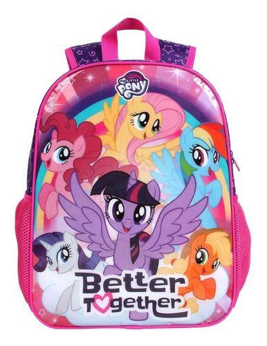Mochila Escolar Infantil Dmw My Little Pony Grande 11502