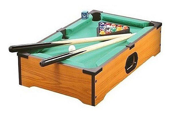 Mini Mesa De Sinuca Bilhar Snooker Portátil Brinquedo 65x37