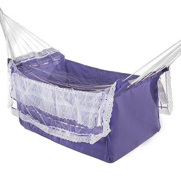 Rede De Dormir Infantil Berço Lilas