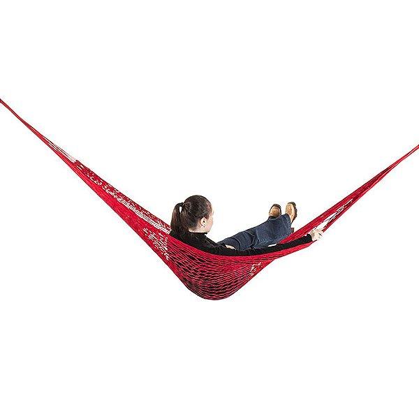 Rede de Dormir e descanso Camping Nylon Impermeável Vermelho