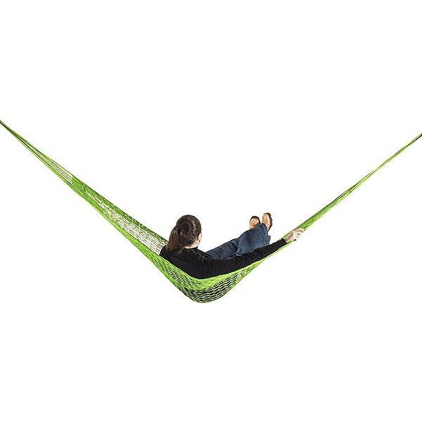 Rede de Dormir e descanso Camping Nylon Impermeável Verde Limão