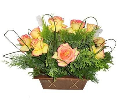 Arranjo com 12 Rosas Ambiance