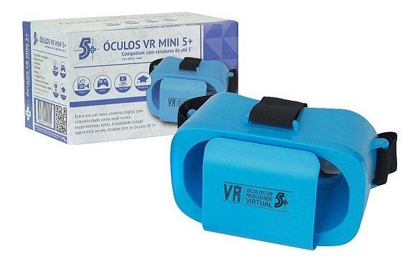 OCULOS REALIDADE VIRTURAL INFANTIL VR MINI 5+ AZUL