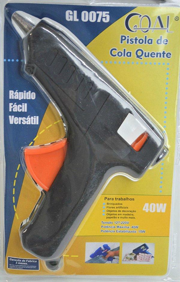 PISTOLA DE COLA QUENTE MARCA GOAL MODELO GL 0075 40W