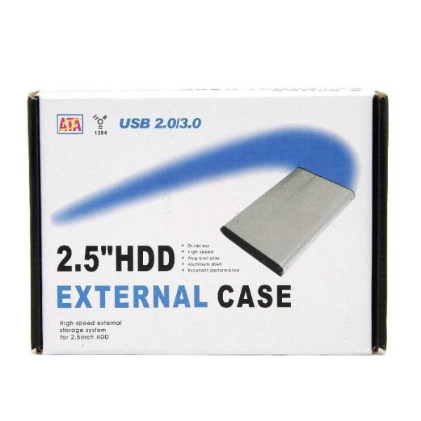 CASE EXTERNO 2.5'HDD USB 2.0/3.0