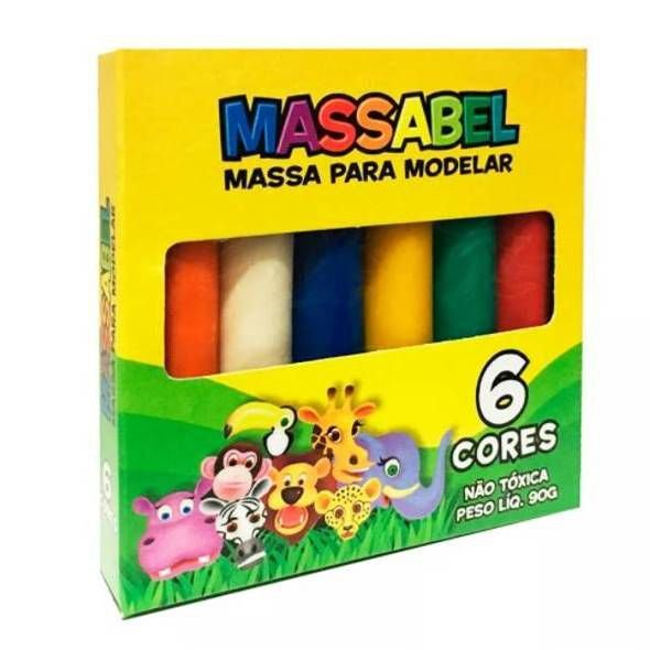 MASSINHA MASSABEE - 6 CORES - 90G