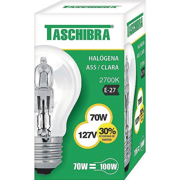 LÂMPADA TASCHIBRA HALOGENA A55 E27 70W 127V