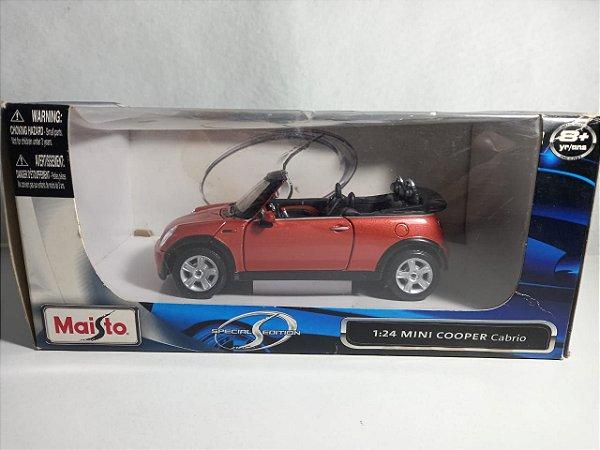 Miniatura Mini Cooper Cabrio - Escala 1/24 - Maisto