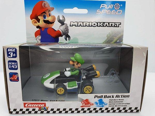 Miniatura Mario Kart - Luigi - Escala 1/43 - Carrera