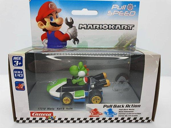 Miniatura Mario Kart - Yoshi - Escala 1/43 - Carrera