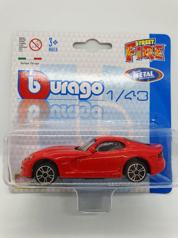 Miniatura Dodge Viper GTS Vermelho - Escala 1/43 - Burago