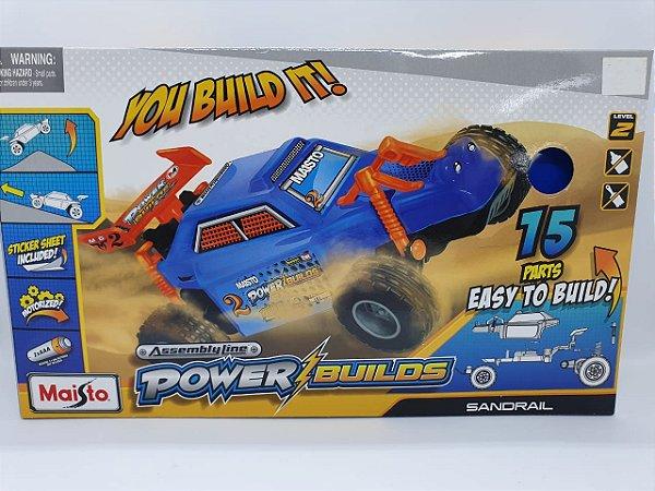 Maisto Assembly Line Power Builds - Sandrail - Azul