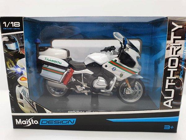 Miniatura Yamaha FJR1300A - Versão Policia Portuguesa - 1/18 - Maisto Authority Police Motorcycles