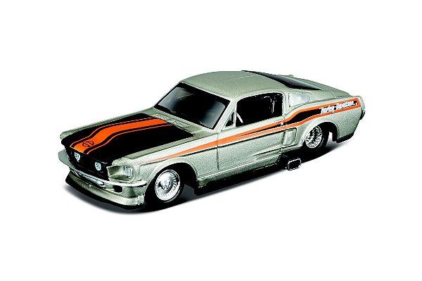 1:64 - 1967 FORD MUSTANG GT - LINHA HARLEY DAVIDSON