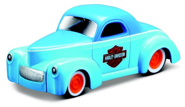 1:64 - 1941 WILLYS COUPE - CARROS SORTIDOS HARLEY DAVIDSON
