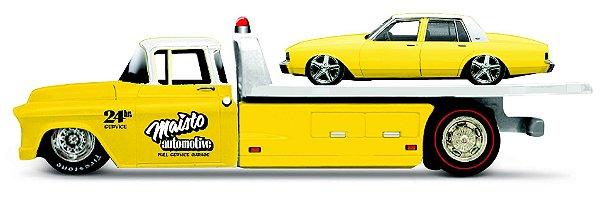 Caminhão 1957 CHEVROLET FLATBAD + 1987 CHEVROLET CAPRICE - DESIGN ELITE TRANSPORT