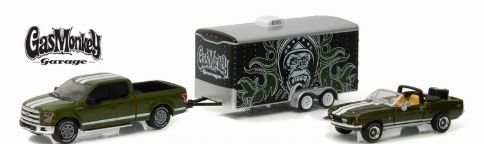 1:64 - 2015 FORD F150 + SHELBY GT500KR + ENCLOSED TRAILER - HOLLYWOOD HITCH & TOW SERIES 1