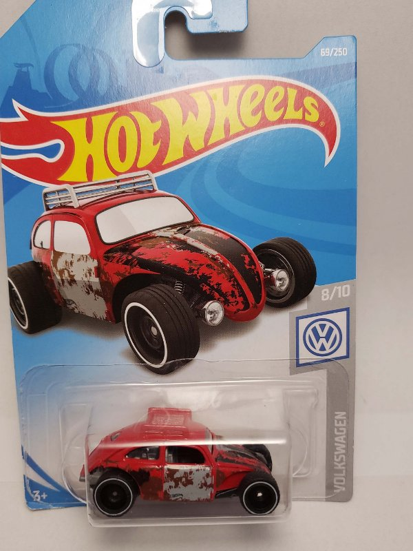 1:64 VW FUSCA CUSTOM VERMELHO