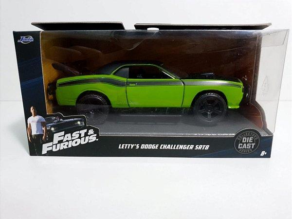 Miniatura Dodge Challenger SRT8 - Velozes e Furiosos - Escala 1/32