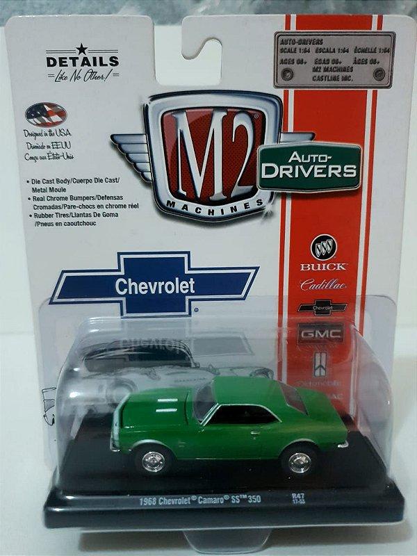Miniatura Chevrolet Camaro SS 350 1968 - Escala 1/64 - M2 Machines