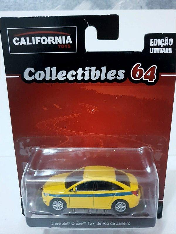 Miniatura Cruze Taxi Rio de Janeiro Amarelo - Escala 1/64 - California