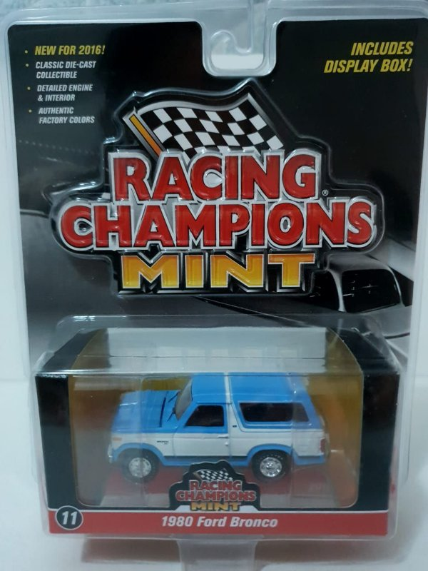 Miniatura Ford Bronco 1980 - Racing Champions Mint - Escala 1/64