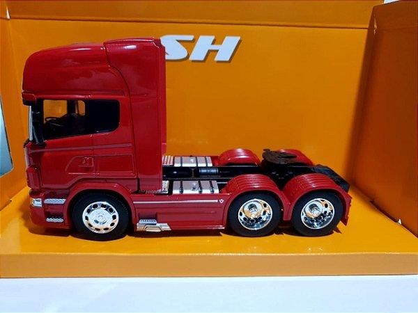 Miniatura Caminhão Scania V8 R730 6X4 - Escala 1/32 - Welly