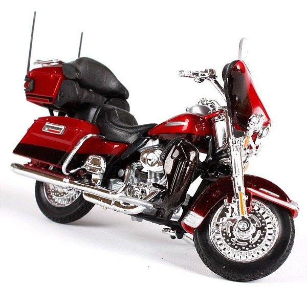 Miniatura Moto Harley Davidson Elektra Glide Ultra Limited FLHTK - Escala 1/18 - Maisto