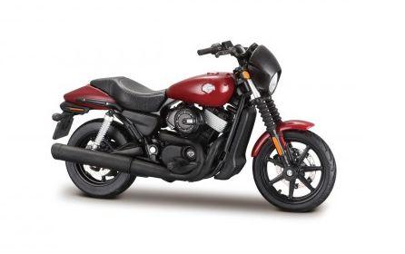 Miniatura Moto Harley Davidson Street 750 2015 1/18 em Metal Cor Vermelho