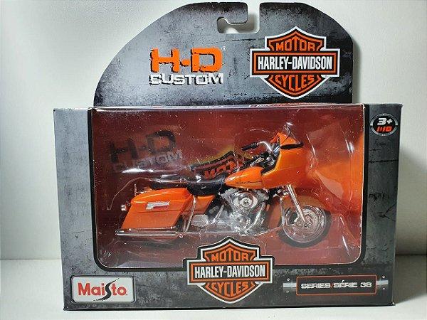Miniatura Moto Harley Davidson FLTR Road Glide 2002 Escala 1/18