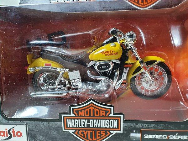 Miniatura Moto Harley Davidson FXS Low Rider 1977 Escala 1/18