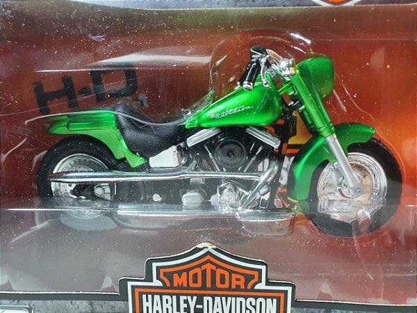 Miniatura Moto Harley Davidson Street Stalker FLSTF 2000 Escala 1/18
