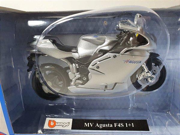 Miniatura Moto MV Augusta F4S 1+1 - Escala 1/18 - Burago