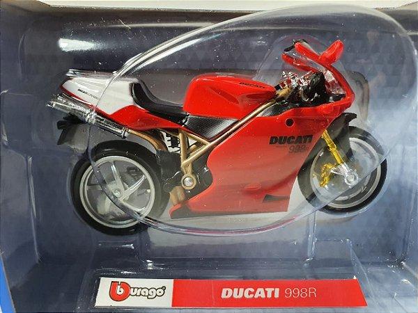 Miniatura Moto Ducati 998R - Escala 1/18 - Burago