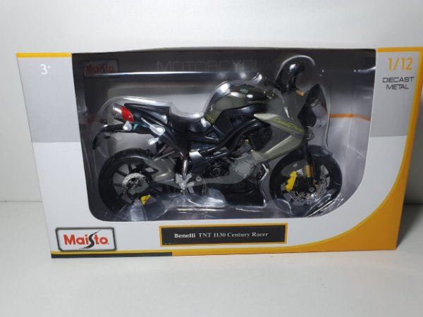 Miniatura Moto Benelli TNT 1130 Century Racer - Escala 1/12 - Burago