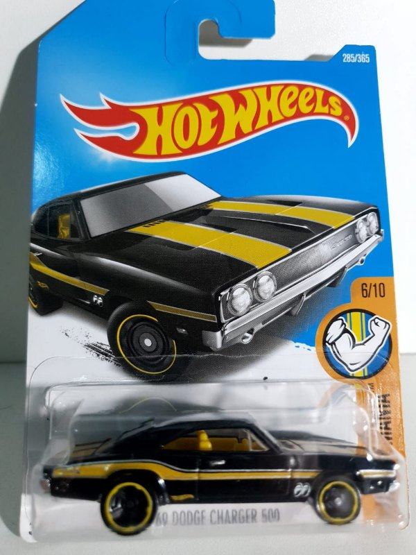 Miniatura Hot Wheels - Dodge Charger 500 1969 - Muscle Mania