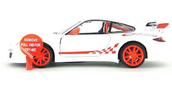 Miniatura Porsche GT3 em Metal com Som de Motor e Luz - California Action