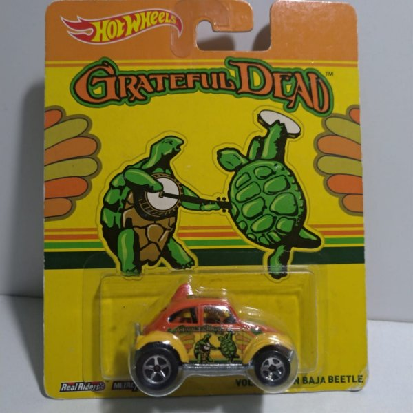 Miniatura Hot Wheels - Volkswagen Fusca Baja Turtle - Grateful Dead