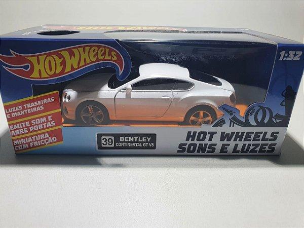 Miniatura Bentley Continental GT V8 - Hot Wheels - Escala 1/32 C/ Som e Luz