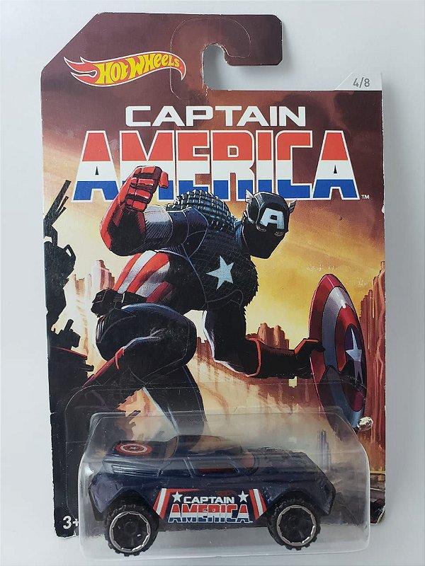 Miniatura Hot Wheels - RD-08 Capitão América