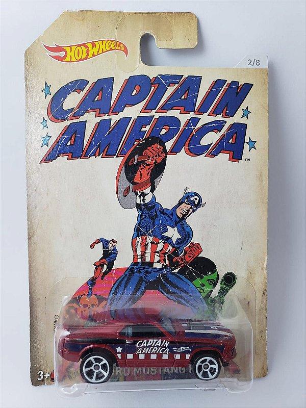 Miniatura Hot Wheels - Ford Mustang 1970 Capitão America