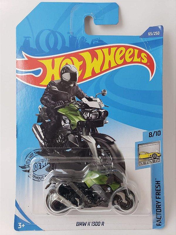 Miniatura Hot Wheels - Moto BMW K 1300 R Verde