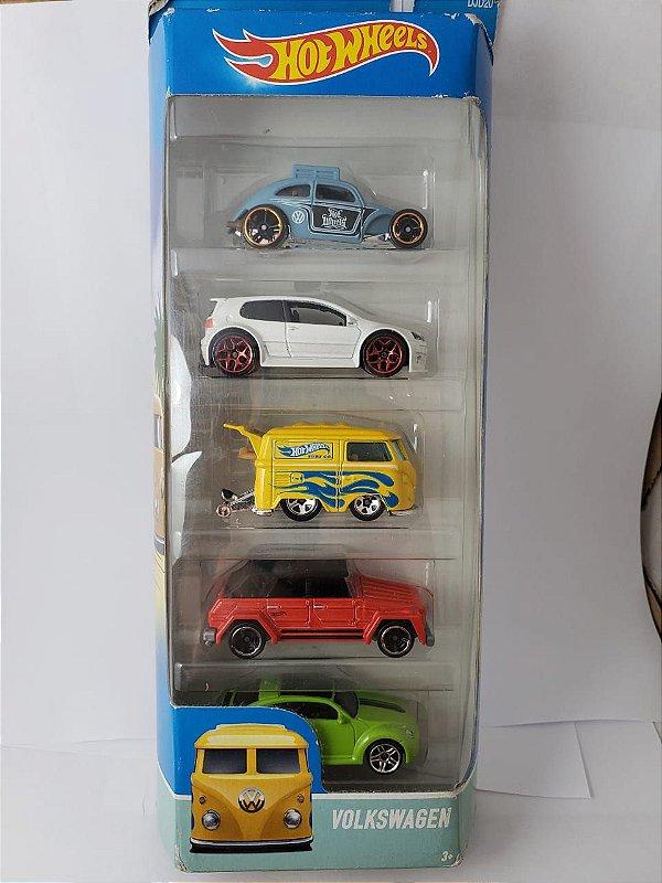 Pack com 5 Miniaturas Hot Wheels - Carros Volkswagen