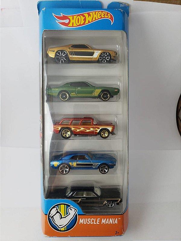 Pack com 5 Miniaturas Hot Wheels - Muscle Mania