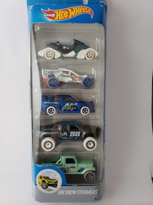 Pack com 5 Miniaturas Hot Wheels - HW Snow Stormers